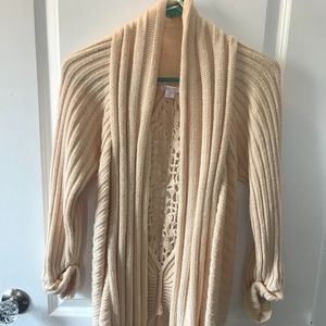 Long Cream Sweater